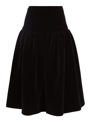 Sara Lanzi gathered velvet midi skirt
