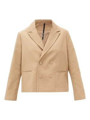 Sara Lanzi oversized double-breasted wool-blend jacket