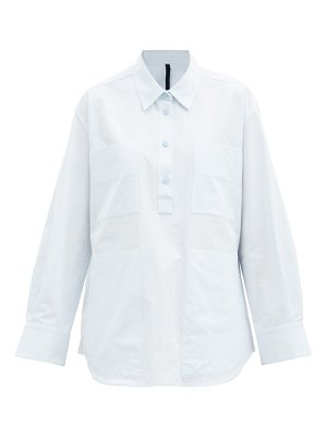 Sara Lanzi patch-pocket cotton-poplin shirt
