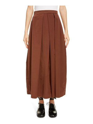 Sara Lanzi pleated satin maxi skirt