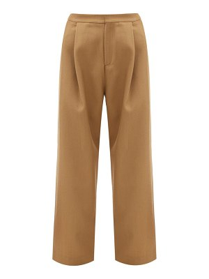 Sara Lanzi wool-blend twill trousers