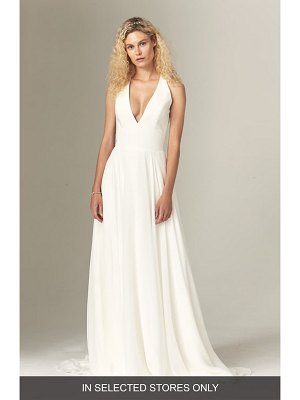 Savannah Miller elizabeth halter wedding dress