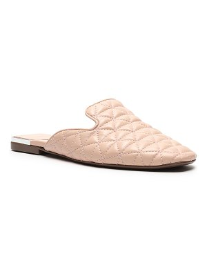 Schutz Adra Quilted Leather Flat Mules