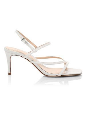 Schutz aurora leather strappy stiletto sandals