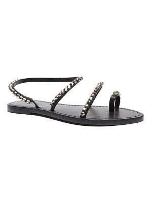 Schutz Azalea Crystal Toe-Ring Flat Sandals