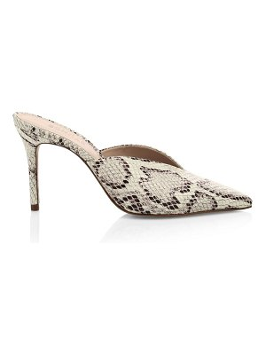 Schutz charla snakeskin-embossed leather mules