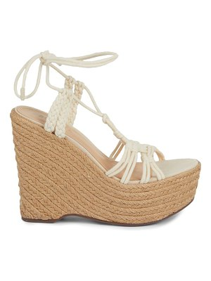 Schutz Esparto Rope Lace-Up Wedges