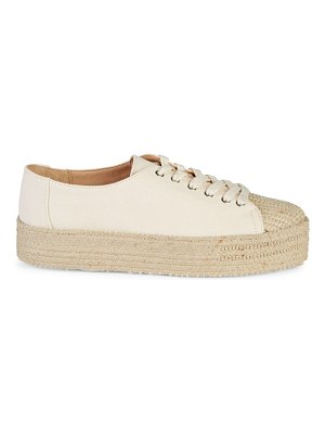 Schutz Lace-Up Espadrille Sneakers