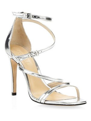 Schutz licah strappy metallic leather stiletto sandals