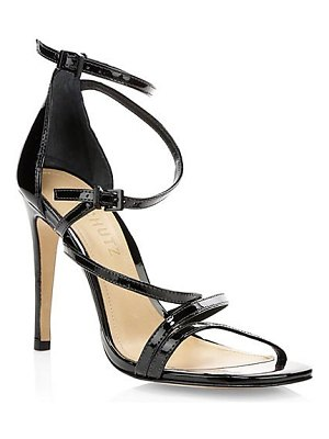 Schutz licah strappy patent leather stiletto sandals