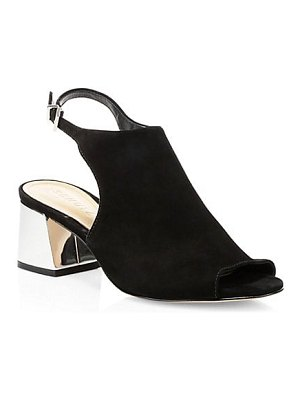 Schutz sugge abley suede block heel mule sandals
