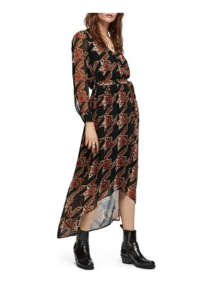 Scotch & Soda long sleeve maxi dress