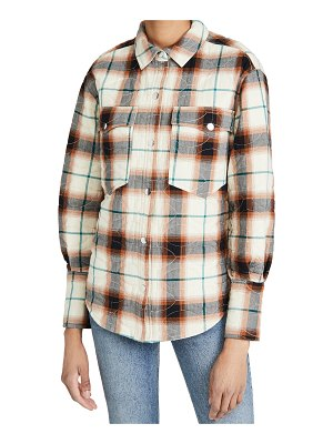 Scotch & Soda shirt jacket in special quilted check