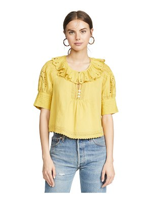 Sea agatha peasant top