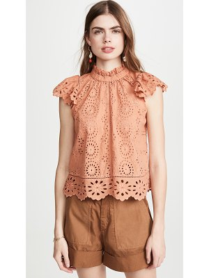 Sea daisy flutter sleeve top