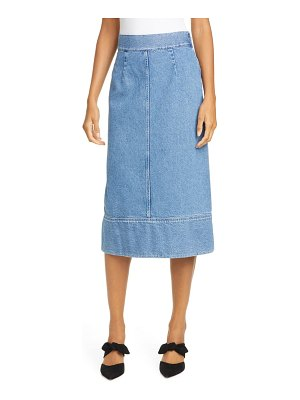 Sea denim skirt