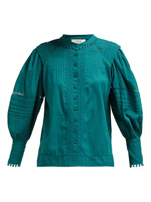 Sea hemingway pintuck cotton blouse