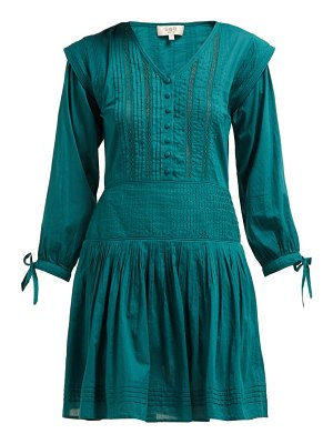Sea hemingway pintuck cotton dress