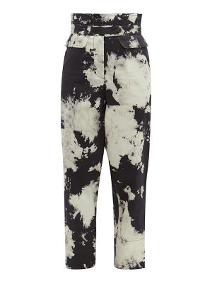 Sea ione tie dye high rise twill trousers
