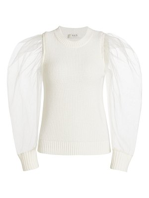 Sea james organza sleeve sweater