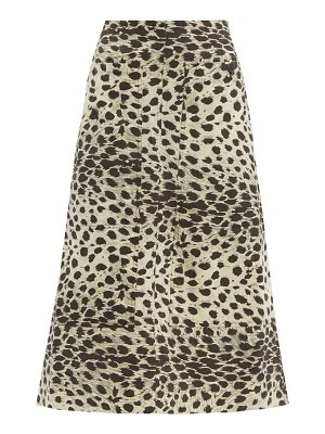 Sea leo leopard-print cotton skirt