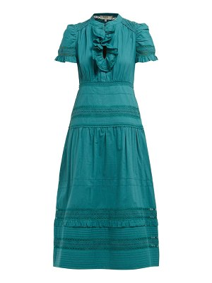 Sea lilli ruffled cotton broderie-anglaise midi dress