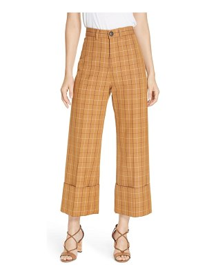 Sea poirot plaid cuff pants