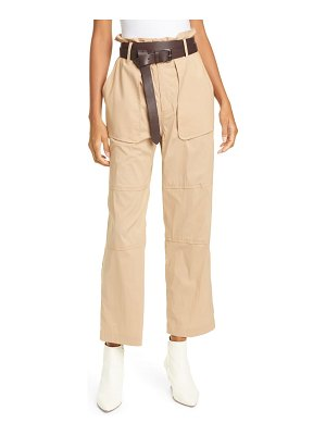 Sea scott belted stretch cotton crop pants