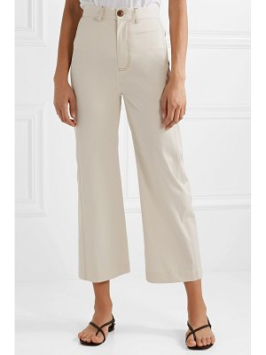 Sea stella cropped straight-leg cotton-blend pants