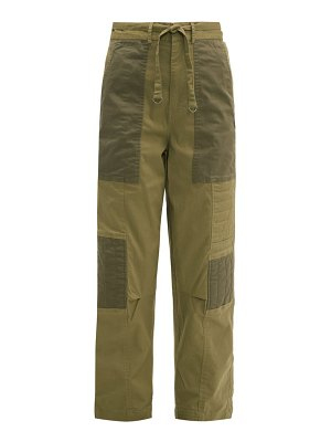 Sea tula quilted cotton blend trousers