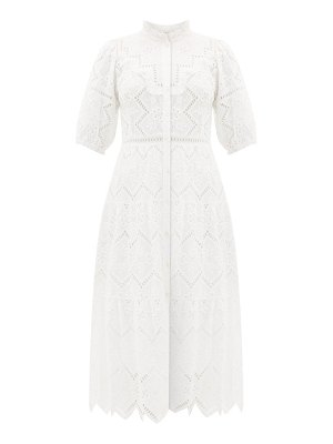 Sea zippy broderie-anglaise cotton dress