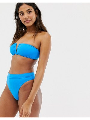 Seafolly electric blue high rise bikini bottom