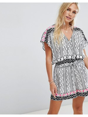 Seafolly Embroidered Print Romper