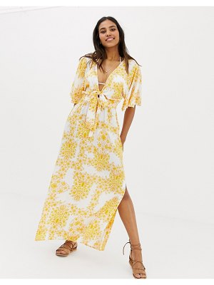 Seafolly sunflower maxi beach dress