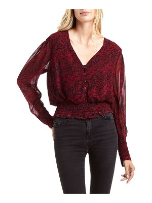 Secret Mission Syracuse Ditsy-Print V-Neck Top