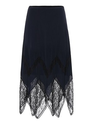 See By Chloe lace-trimmed crêpe midi skirt