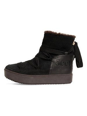 See By Chloe 30mm suede snow boots