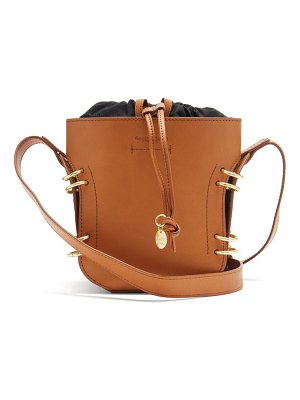 See By Chloe alvy ring-embellished leather bucket bag