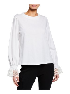 See By Chloe Bell-Sleeve Crewneck Top