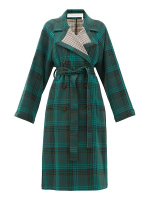 See By Chloe belted checked twill trench coat