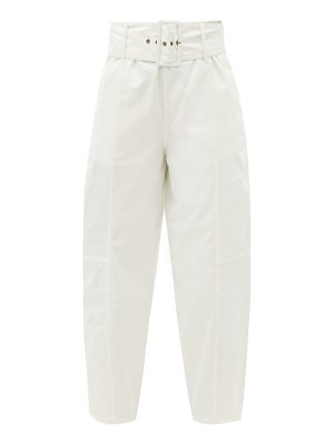 See By Chloe belted cotton-blend twill trousers