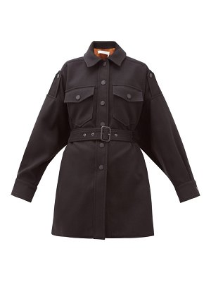 See By Chloe belted dropped-sleeve cotton-blend jacket