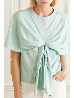 See By Chloe bow-detailed cotton-jersey t-shirt
