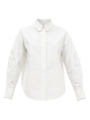 See By Chloe broderie-anglaise cotton-poplin shirt