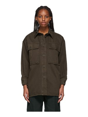 See By Chloe brown twill army shirt