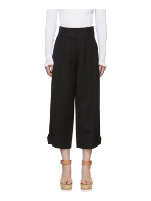 See By Chloe black button cropped trousers