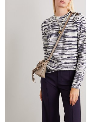See By Chloe button-embellished space-dyed knitted sweater