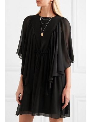 See By Chloe cape-effect ruffled georgette mini dress