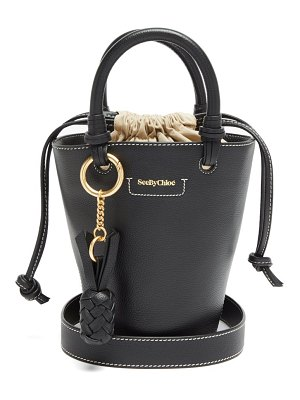 See By Chloe cecilia small grained-leather bucket bag
