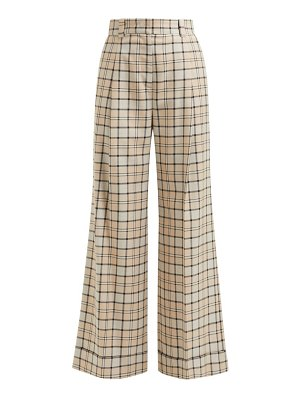 See By Chloe checked twill wide leg trousers